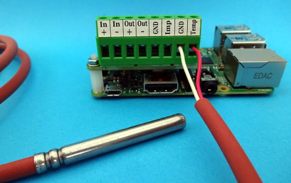 Connecting temperature sensor to PiLogger on Raspberry